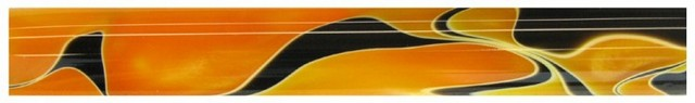 Charnwood 19mm Round Acrylic Pen Blank, Orange with Black and White swirl