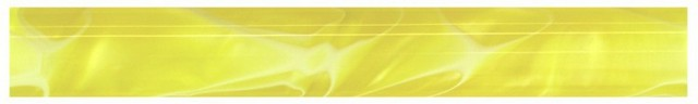 Charnwood 19mm Round Acrylic Pen Blank, Yellow with White Swirl