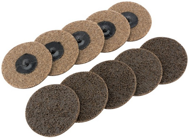 Draper DRAPER Ten 75mm Polycarbide Abrasive Pads (Course)