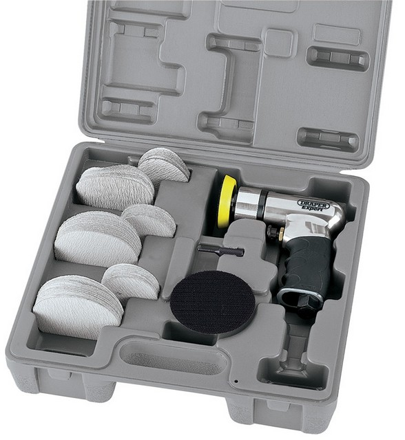 Draper DRAPER Expert 50/75mm Compact Dual Action Soft Grip Air Sander Kit