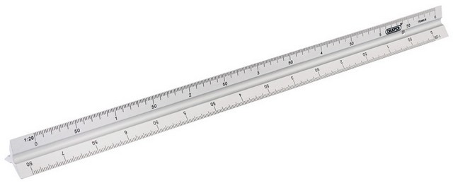 Draper DRAPER 300mm Aluminium Triangle Scale Rule