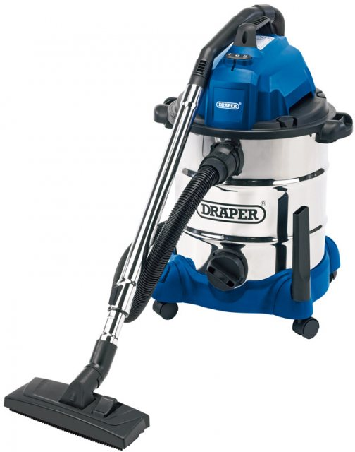 Draper Draper 30L 1400W Wet and Dry Vacuum Cleaner Integrated 230V Power Socket