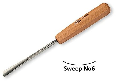 Stubai Stubai 25mm Straight Carving Gouge No6 Sweep