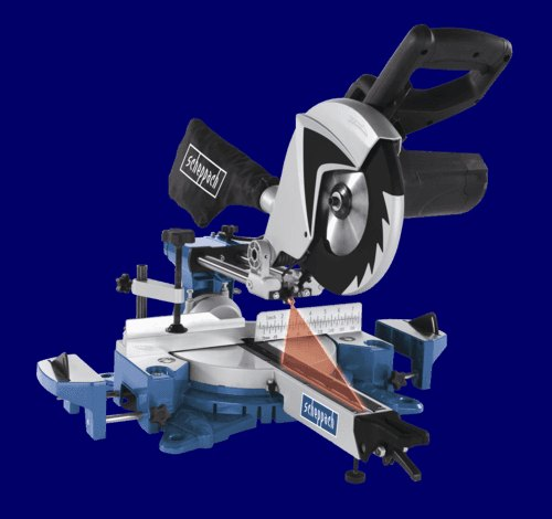 Scheppach 255 MM SLIDING MITRE SAW - MULTI-APP - 2150 W 2 SPEED