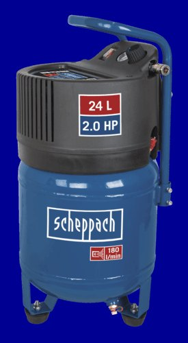 Scheppach 24 L VERTICLE COMPRESSOR - OIL-FREE, 2.0 HP