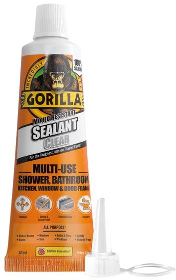 Gorilla Gorilla Mould Resistant Sealant Clear Tube 80ml