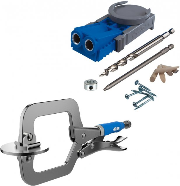 Kreg Jig R3 Jr Package Deal With FREE 2' Face Clamp