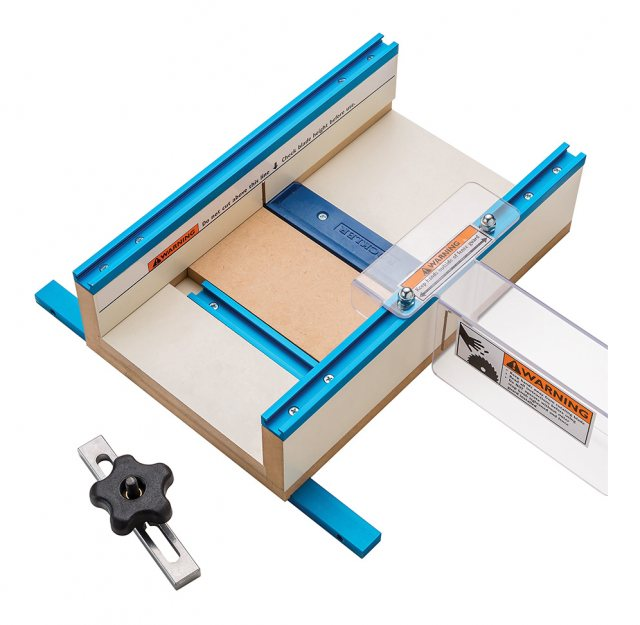 Rockler Table Saw Small Parts Sled 12'' x 15-1/2'' x 3-1/2''