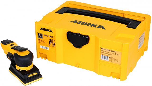 Mirka Mirka DEOS 353CV 81x133mm 230V Orbit 3,0 Case UK