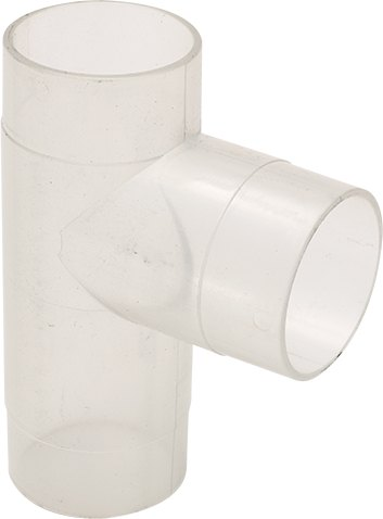 Record Power 2.5 Inch Clear Plastic T Fitting