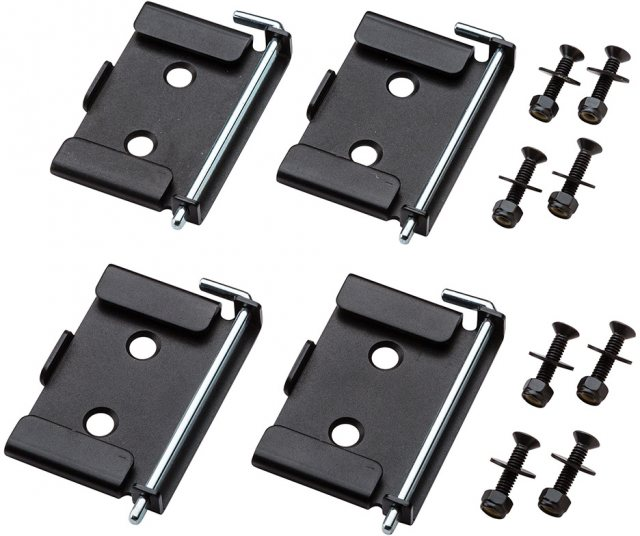 Rockler Quick-Release Workbench Caster Plates 4pk 70 x 95mm (2-3/4 x 3-3/4'')