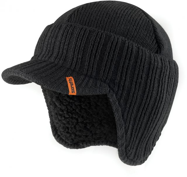 Scruffs Peaked Knitted Hat Black One size