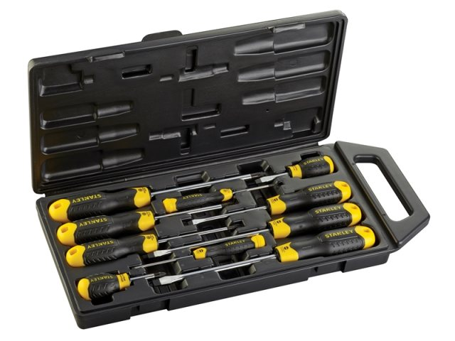 Cushion Grip Screwdriver Set 10 Piece SL/PZ