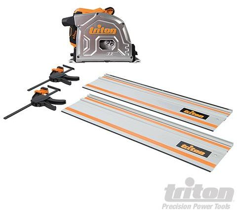 Triton 1400W Track Saw Kit 185mm TTS185KIT