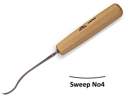 Stubai Stubai 3mm Spoon Flat Carving Gouges No4 Sweep