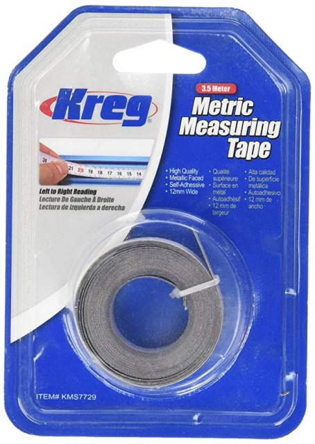 Self-Adhesive Measuring Tape Metric 3.5m KMS7729 L-R