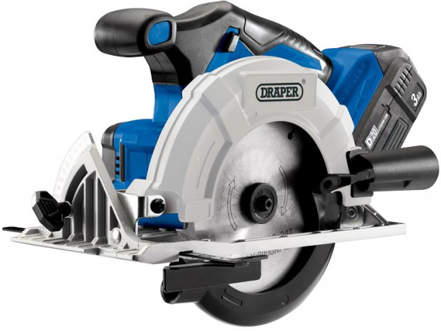 Draper D20 20V Brushless Circular Saw with 3Ah Battery and Fast Charger