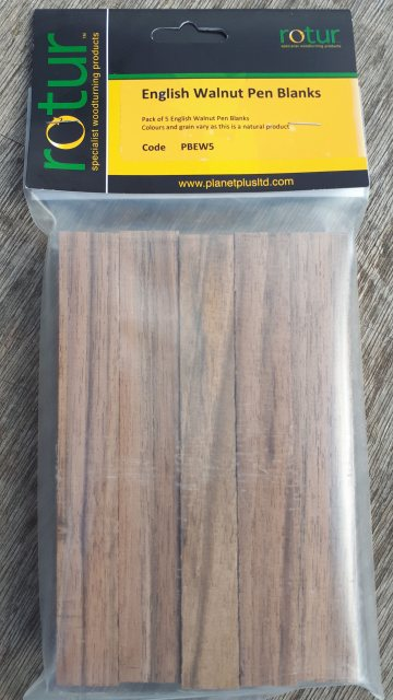 Planet Pen Blanks - English Walnut (5 pack)