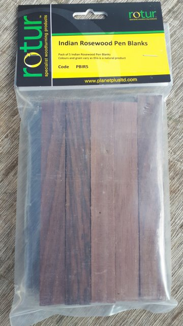 Planet Pen Blanks - Indian Rosewood (5 pack)