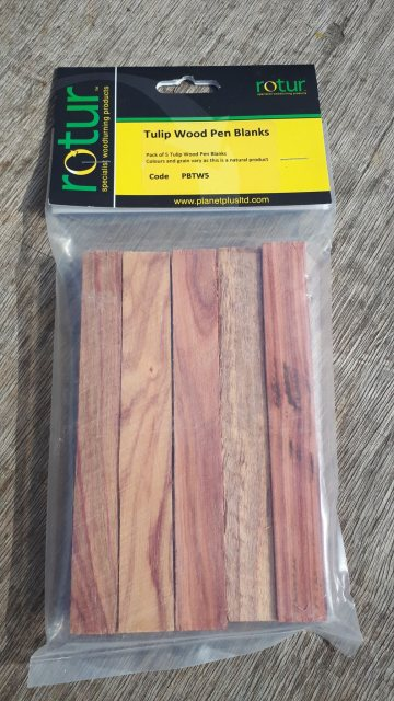 Planet Pen Blanks - Brazilian Tulip Wood (5 Pack)