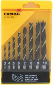 Famag Famag Brad point drill bit, CV steel, set of 8 pcs?3,4,5,6,7,8,9,10mm in plastic box