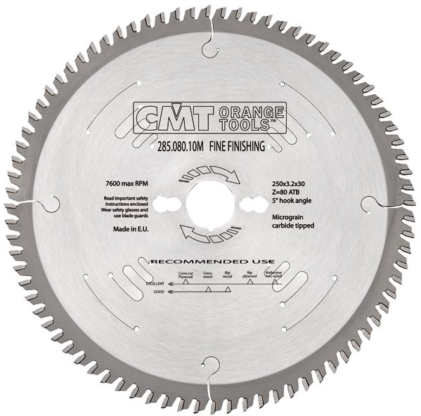 Fine Finishing Saw Blade 200X3.2X30 Z64 15Atb