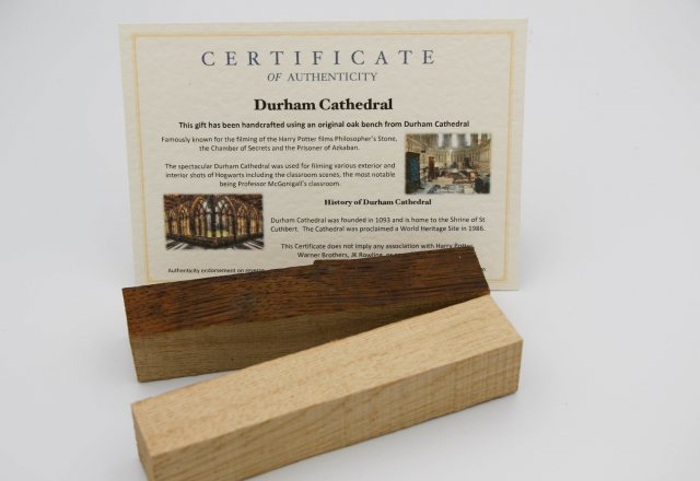 Yandles Harry Potter Wooden Pen Blank from Gloucester Cathedral
