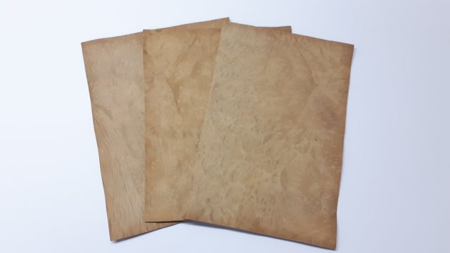 Guitar / Mandolin Headstock Hardwood Veneer 3 Pack Birch Burr