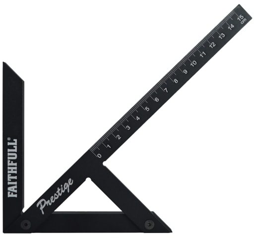 Faithfull Prestige Centre Finder Gauge Black Aluminium 150mm