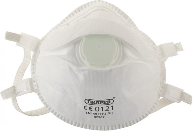 Draper FFP3 NR Moulded Dust Mask (pack of three)