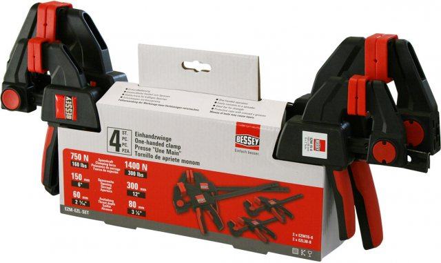 Bessey NEW Bessey Easy Clamp Set 2x150mm + 2x300mm 4pcs