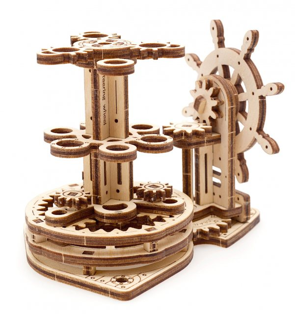 Ugears Ugears Model Wheel Organiser  Mechanical Wooden Model 3D Puzzle