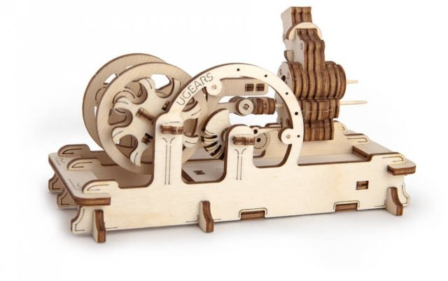 Ugears Ugears Pneumatic Engine  Mechanical Wooden Model 3D Puzzle