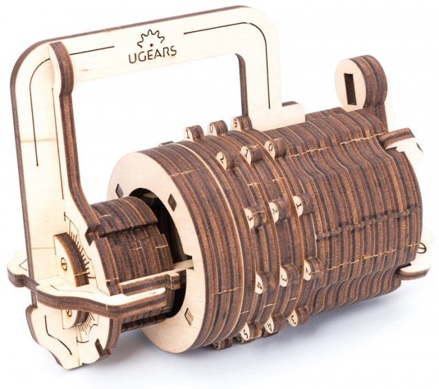 Ugears Ugears Combination Lock  Mechanical Wooden Model 3D Puzzle