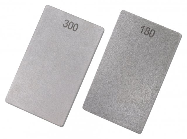 Titman Edge Professional double sided woodturners credit card stone. 180/300 Grit