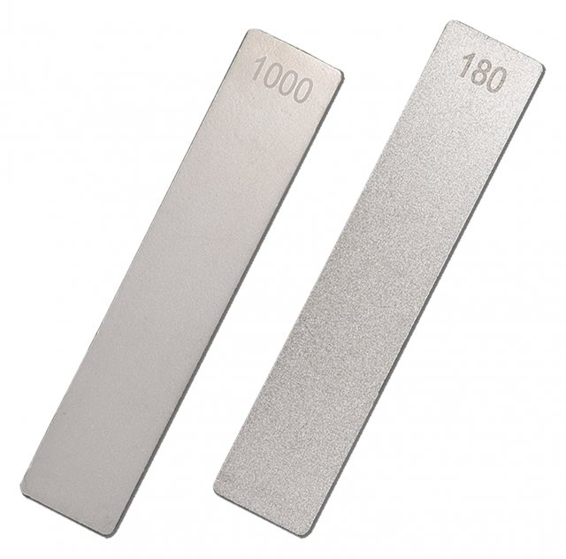 "Titman Edge The double sided extreme pocket stone file 5"" x 1"" (125mm x 25mm). 180/1000 Grit."