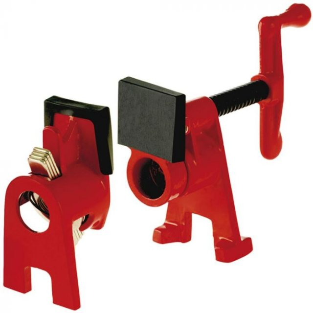 Bessey Bessey Pipe Clamp HEADS / ENDS Clamping Set (bar required) BPC