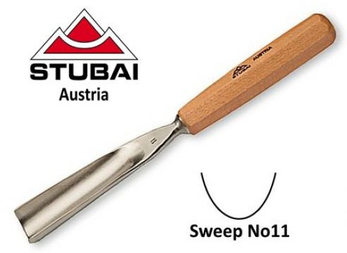 Stubai Stubai 10mm No11 Sweep Straight Carving Gouge