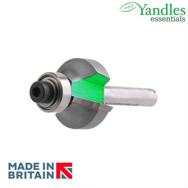 "essentials 1/2"" bearing guided ovolo cutter 51mm diameter, 25mm depth of cut, 19.1mm radius, 2 bearings 9.5mm &"