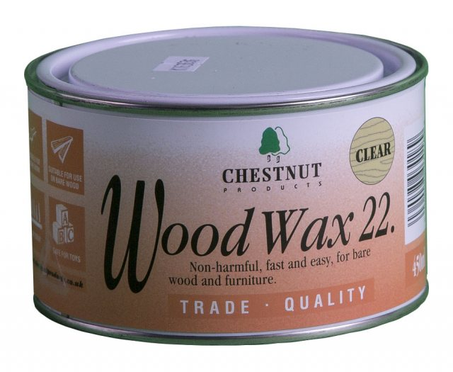 Chestnut Chestnut WoodWax 22 Clear 450ml Wax