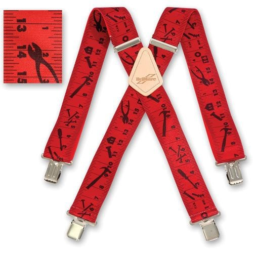 BriMarc Braces RED TAPE MEASURE BRACES