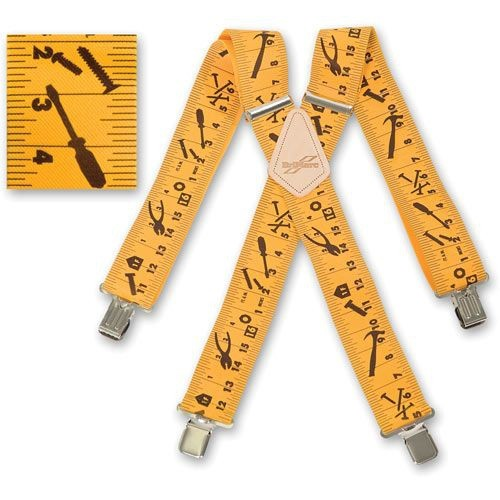 BriMarc Braces YELLOW TAPE MEASURE BRACES