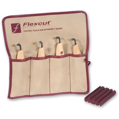 Flexcut Flexcut Left Handed Scorp Set - 4 Piece