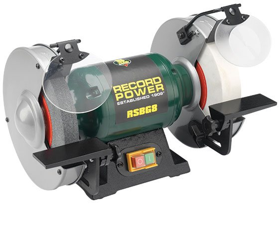 "Record Power New For 2018 Record Power RSBG8 - 8"" Bench Grinder + FREE Diamond Dresser"