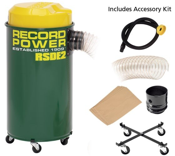 Record Power Record Power RSDE2 Dust Extractor 50L, 1000W c/w Accessory Pack