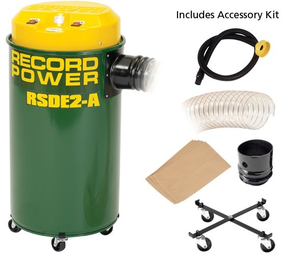 Record Power Record Power RSDE2A Automatic Dust Extractor 55L, 1000W c/w Accessory Pack