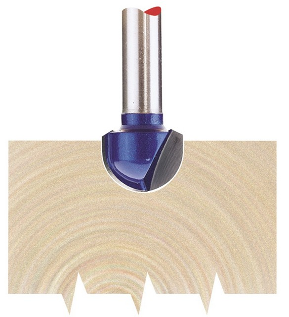 Draper DRAPER 1/4' Core Box 12.7 x 6.35mm Radius TCT Router Bit