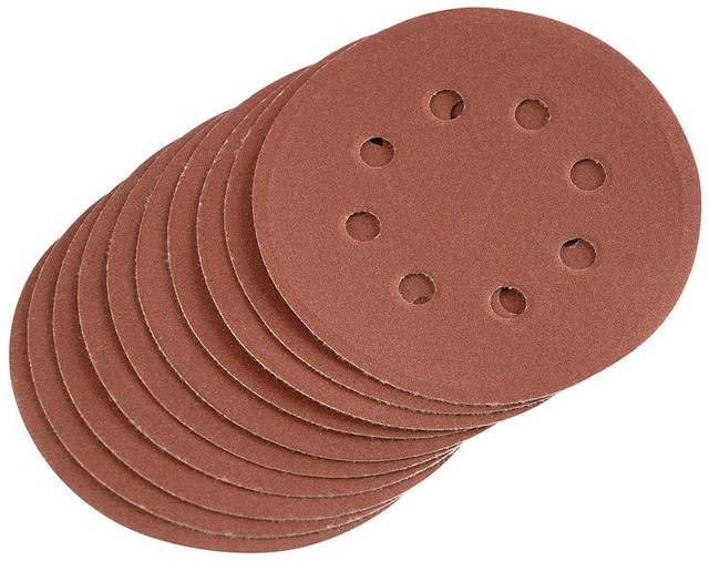 Draper DRAPER Ten 125mm 240 Grit Hook and Loop Sanding Discs