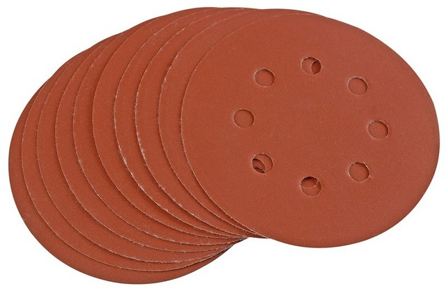 Draper DRAPER Ten 125mm 400 Grit Hook and Loop Sanding Discs