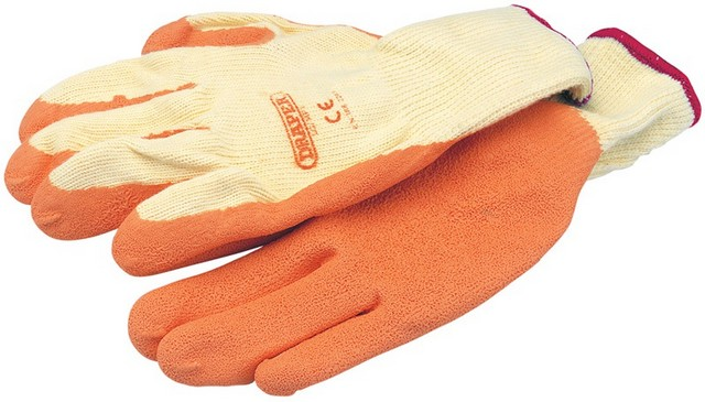 Draper DRAPER Expert Orange Heavy Duty Latex Coated Work Gloves - Large
